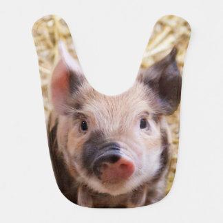 Cute piglet baby bibs