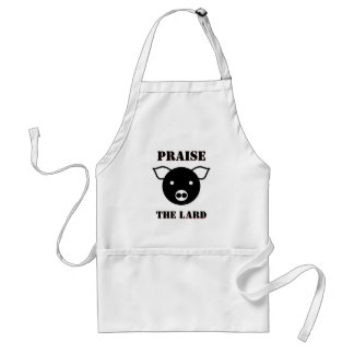 Cute Piglet Face Cartoon Praise the Lard Standard Apron