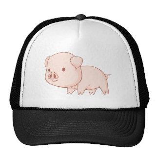 Cute Piglet Illustration Mesh Hat