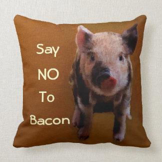 Cute Piglet 'Say no to bacon' Cushion