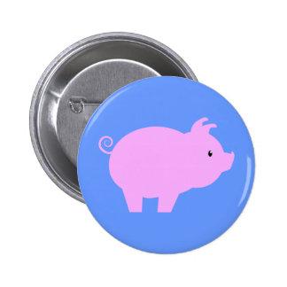 Cute Piglet Silhouette 6 Cm Round Badge