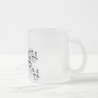 CUTE PILE OF SKULLS IN BLACK AND WHITE 10 OZ FROSTED GLASS COFFEE MUG