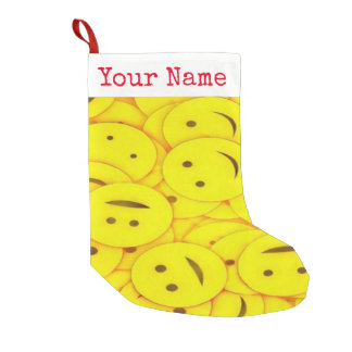 Cute Piles of Yellow Smiley Faces Add Your Name