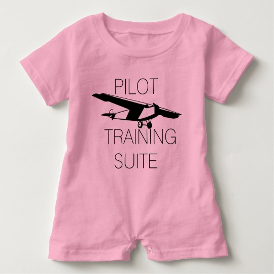 Cute Pilot training suite Baby Bodysuit