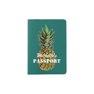 Cute pineapple passport holder with custom name