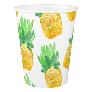 Cute pineapple tropical party cup