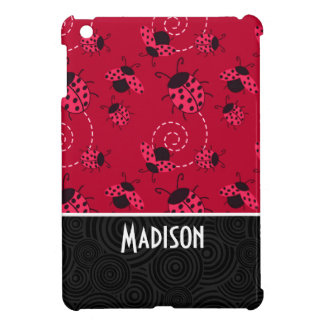 Cute Pink and Black Ladybug Cover For The iPad Mini