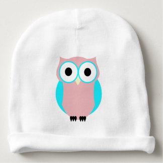 Cute Pink And Blue Hoot Owl Baby Hat Baby Beanie