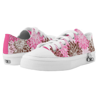 Cute, Pink and Brown Flower Print Printed Shoes