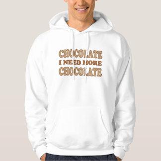 Cute Pink and Brown I Need Chocolate Hoodie