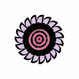 Cute Pink and Purple Flower Magnet Acrylic Cut Out