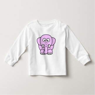 Cute pink animated little elephant t-shirt