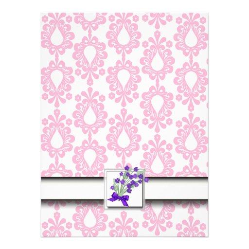 Cute Pink Anniversary Invite