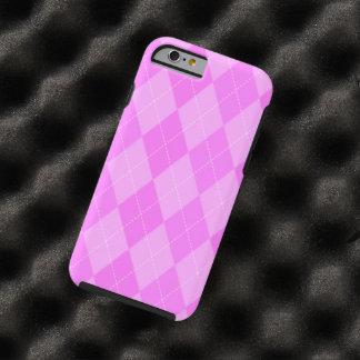 Cute Pink Argyle Pattern Tough iPhone 6 Case