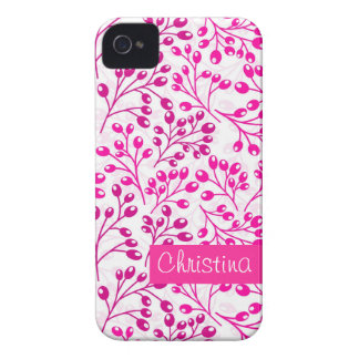 Cute pink autumn berries iPhone 4 covers