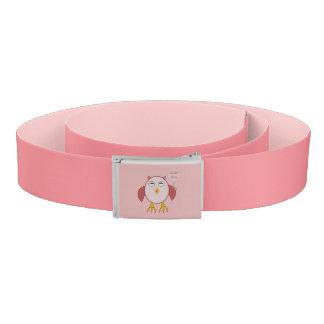 Cute Pink Baby Girl Owl Belt