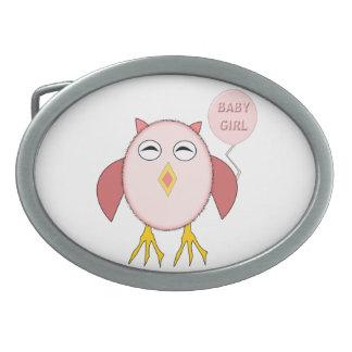 Cute Pink Baby Girl Owl Belt Buckle