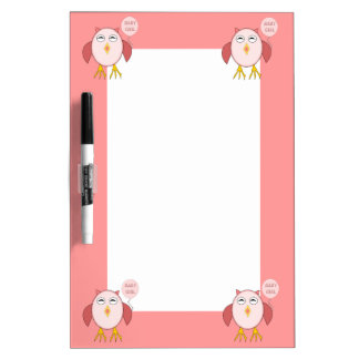 Cute Pink Baby Girl Owl Memo Board