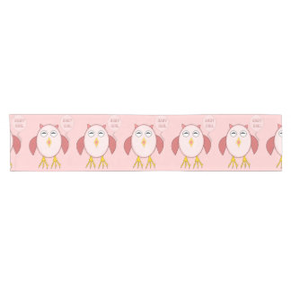 Cute Pink Baby Girl Owl Table Runner