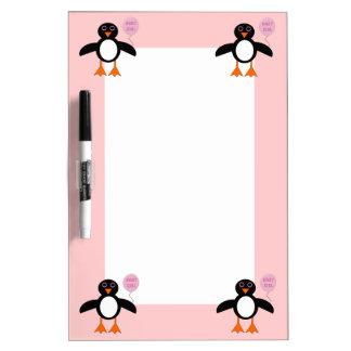 Cute Pink Baby Girl Pemguin Memo Board
