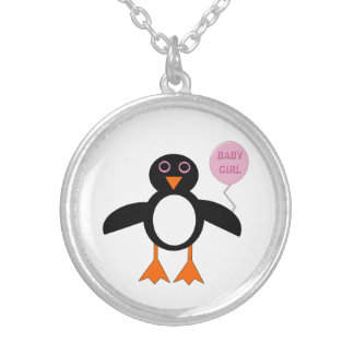 Cute Pink Baby Girl Penguin Necklace