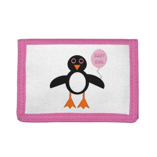 Cute Pink Baby Girl Penguin Wallet