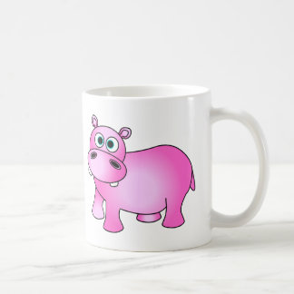 Cute Pink Baby Hippo Basic White Mug