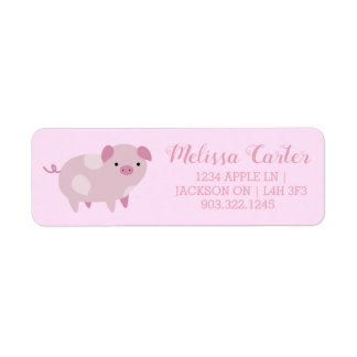 Cute Pink Baby Piglets Pattern & Dots