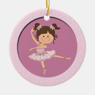 Cute Pink Ballerina 1 Ballet Star Christmas Ornament