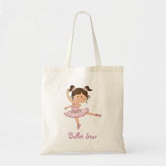 Cute Pink Ballerina 1 Ballet Starg Budget Tote Bag