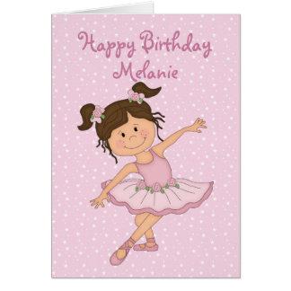 Cute Pink Ballerina 2 Birthday Greeting Card