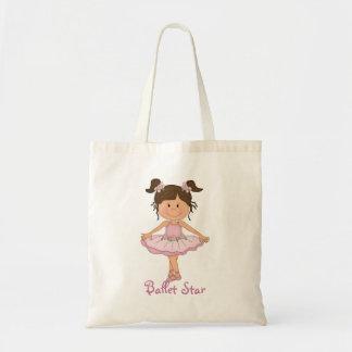 Cute Pink Ballerina 3 Ballet Star Budget Tote Bag