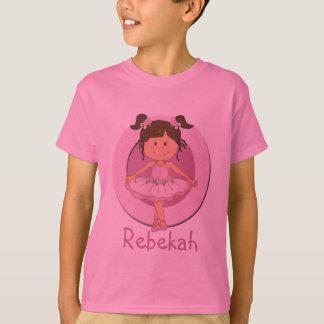 Cute Pink Ballerina 3 Personalized Star T-Shirt