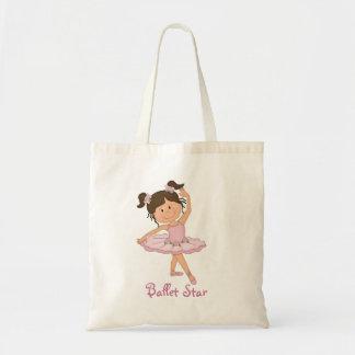 Cute Pink Ballerina 4 Ballet Star Budget Tote Bag