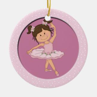 Cute Pink Ballerina 4 Ballet Star Christmas Ornament