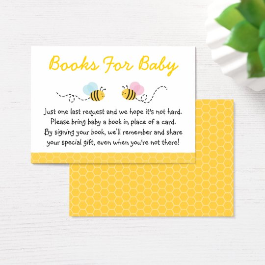 Cute Pink & Blue Bumble Bee Book Request