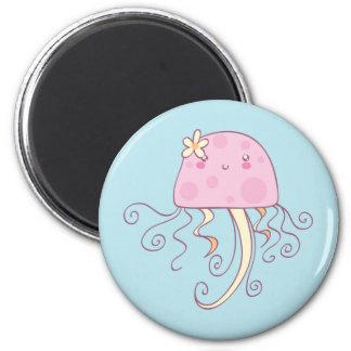Cute Pink Blue Cartoon Jellyfish Fridge Magnets