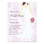 "Cute Pink Bridal Shower Invite 5"" X 7"" Invitation Card"