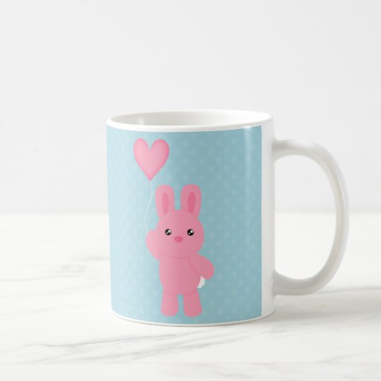 Cute Pink Bunny Coffee Mug