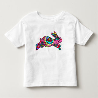 Cute Pink Bunny  Kaleidoscope Bunny Tee Shirt