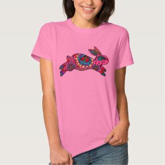 Cute Pink Bunny  Kaleidoscope Bunny Tshirts