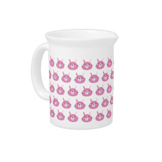 Cute Pink Bunny | Kids Birthday Pitcher