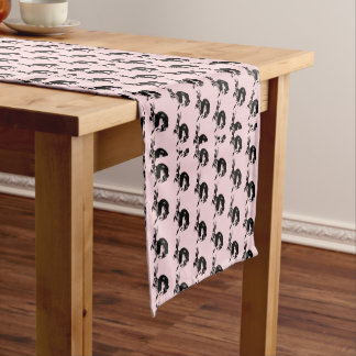 Cute Pink Bunny Pattern Table Runner