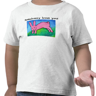 Cute pink bunny toddler or kid s tee shirt