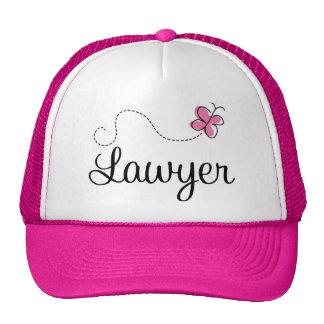 Cute Pink Butterfly Lawyer Cap