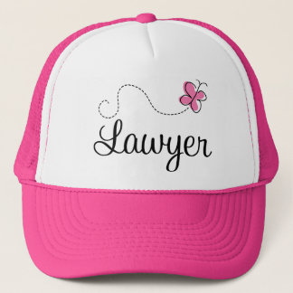 Cute Pink Butterfly Lawyer Trucker Hat