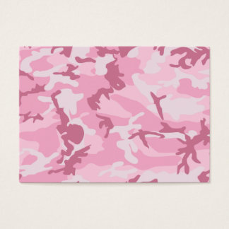 Cute Pink Camouflage Print Business Card