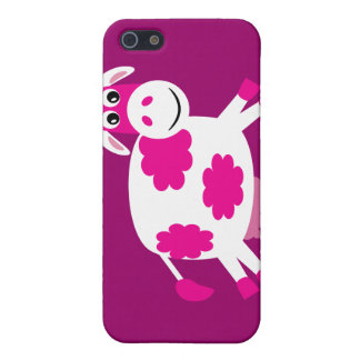 Cute Pink Cartoon Cow Cover For iPhone 5/5S