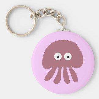Cute pink cartoon Jellyfish keychain