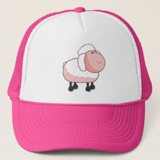 Cute Pink Cartoon Sheep Trucker Hat